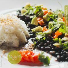 Feijão preto com arroz