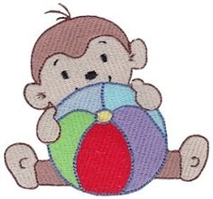Monkeying Around Four 8 - 2 Sizes! | Beach/Ocean | Machine Embroidery Designs | SWAKembroidery.com Bunnycup Embroidery