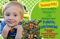 Teenage Mutant Ninja Turtles   photo Invitations picclick.com