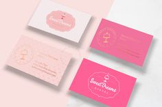 Bakery Ideas, Logo Design, Graphic Design, Sweet Dreams, Brand Identity, Business Cards, Cupcake, Behance, Packaging