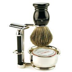 classic shave Vintage Style Black Double Edge Safety Razor Set