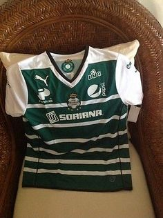 PUMA SANTOS LAGUNA JERSEY 2014 MEXICO LIGA MX NEW WITH TAGS SIZE L Youth
