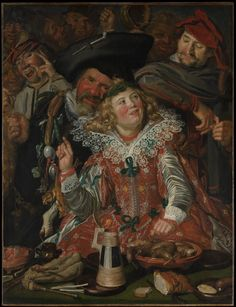 Merrymakers at Shrovetide (oil on canvas) 1616–17, Frans Hals
