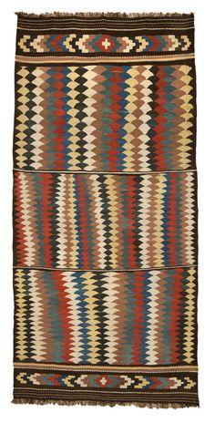 Bowlan kilim, Varamin region, north Persia, c. 1900. 275 x 135 cm Ali Foumani, Amsterdam