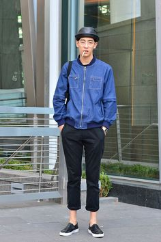 koreanmodel:     Streetstyle: Jo Minho by Baek Seung Won at Seoul Fashion Week S/S 2014