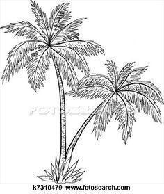 Dessin palmier plage silhouettes en 2019 - Palmier dessin ...