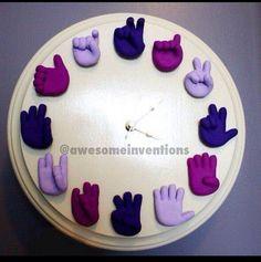 Sign language clock