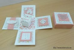 stampin up, explosion box, baby