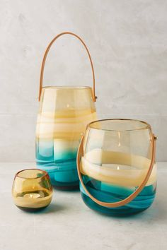 Anthropologie Sea Swirl Lantern