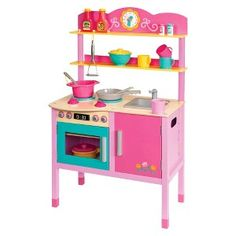 Paige's Kitchen: Play Circle Little Chef's Kitchen - love that it is made out if wood!