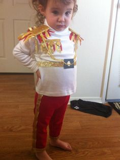 she was not happy about modeling a boy outfit lol.....    #prince #costume #halloween #princecharming #homemade