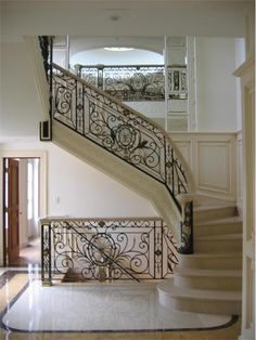 Monumental stairs from Wrought Iron, Inc.