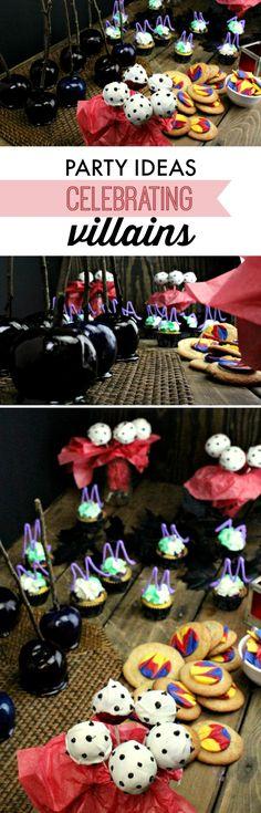 Party Ideas Celebrating Villains #Disney #VillainDescendants #ad