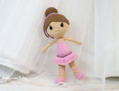 Ballerina doll amigurumi pattern by Amigurumi Today
