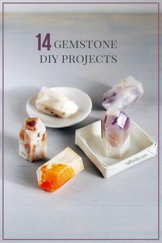 14 Gemstone DIYs to