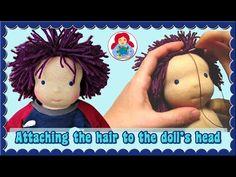 DIY | Doll Wig Step by Step Tutorial: Crochet Cap/ Hook and Loop Method | Sami Dolls Tutorials - YouTube