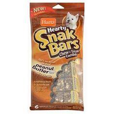 Hartz Hearty Snack Bar Fıstık Ezmeli Çubuklar 6'lı Paket, Tam tahıl yulaf ile besleyici. Gerçek meyve / sebze parçacıkları.