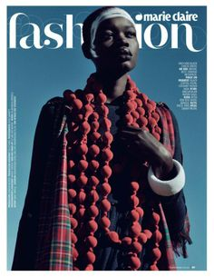 Aluad Deng Anei in Marie Claire South Africa July 2013