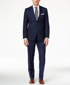 Lauren Ralph Lauren Men's Slim-Fit Navy Pinstriped Suit