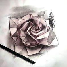 An amazing tattoo art of an origami rose. Great idea for girls. Tags: Best, Amazing