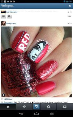 Cute Taylor swift nails