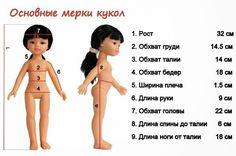 Базовые выкройки для кукол 32 см ..
