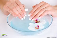 To quick-dry nail polish, dunk your hands in a bowl of ice-cold water for three minutes. The cold water freeze-dries polish, sealing and hardening it quickly.