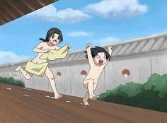 Cute little Itachi and Sasuke. Hahahah!