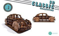 O modelo NR.1 da coleção 3D Clássicos, com 34 peças. Design by Suricata Design Studio  www.suricatastudio.com