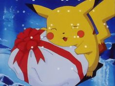 New trending GIF on Giphy. pokemon christmas pikachu present. Follow Me CooliPhone6Case on Twitter Facebook Google Instagram LinkedIn Blogger Tumblr Youtube