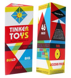 My proposed packaging redesign is inspired by the possibilities Tinker Toys simple objects hold. The packages unique triangular shape and surface design would stand.