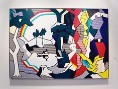 Roy Lichtenstein's meditation on art: 'Landscapes with figures and rainbow', 1980
