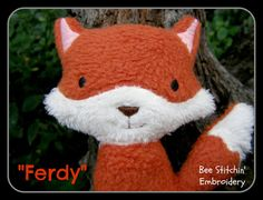 Ferdy Fox ITH softie - 2 sizes Embroidery design - INSTANT DOWNLOAD