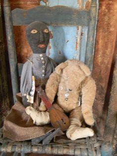Norma Schneeman doll & one of my bears