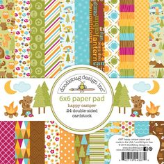 "Image coming soon!            Doodle Bug Designs Inc  6 X 6 paper pack ""happy camper"""