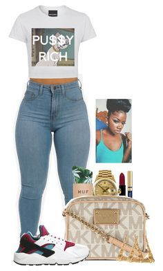 """""""Untitled #2030"""" by basnightshine1015 ❤ liked on Polyvore featuring moda, NYX, Rolex, Yves Saint Laurent, MICHAEL Michael Kors y NIKE"""