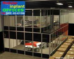 Modular Inplant Office Systems are engineered for flexible design, ease of installation and durability, Easy Rack's prefab modular office systems provide safe, quiet inplant offices for staff and visitors. Whatever your space need, we have a modular building solution. Need help planning your modular office building? No problem— Easy Rack's world-class engineering and customer service stands behind every modular office installation.
