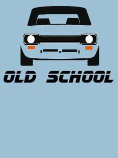Ford Escort MK1 Men's Retro Car T-Shirt by ImageMonkey