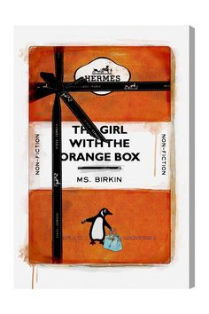 The Girl with the Orange Box Canvas Art by Oliver Gal Gallery on @HauteLook