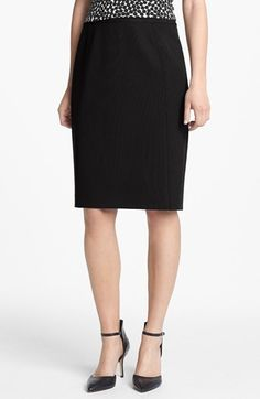 Halogen® Seamed Pencil Skirt (Regular & Petite) available at #Nordstrom