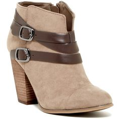 Carlos By Carlos Santana Helene Bootie (1.345 UYU) ❤ liked on Polyvore featuring shoes, boots, ankle booties, booties, ankle boots, shoes - boots, grey, grey boots, gray ankle boots and grey booties