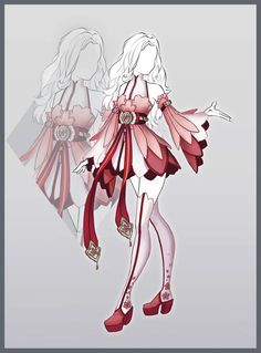 Design by Lonary on DeviantArt Manga Clothes, Drawing Anime Clothes, Dress Design Drawing, Dress Drawing, Clothing Sketches, Dress Sketches, Hero Costumes, Anime Costumes, Anime Girl Dress