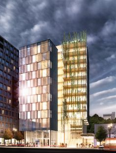Lever Architecture has designed a 12-storey tower for Portland, Oregon, that…