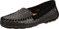 UGG Women's Dari Metallic Basket Black Loafer 10 B (M) * Details can be found by clicking on the image.