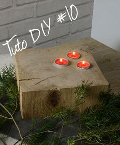TUTO #DIY10 BOUGEOIR CUBE_Chêne Décors. Besoin d'un peu de nature ? Au sol ou sur une table, à l'intérieur comme à l'extérieur. Choisissez le nombre, la couleur et la forme de vos bougies et donnez ainsi un aspect naturel et chaleureux à votre décoration