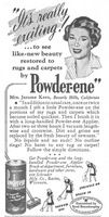 Powder-ene Rug Cleaner 1950 Ad Picture