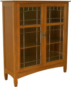 Mission Motif - Hill House 2 Door Bookcase, Office, Canal Dover Furniture, Mission Furniture