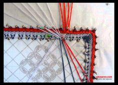 Выполнение парной зашивки в кружевоплетении на коклюшках