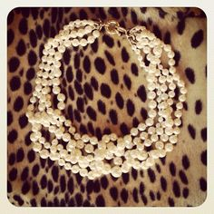 Leopard and pearls