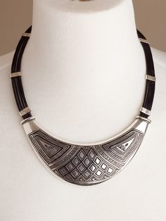 Crescent Collar with Triangle Motifs